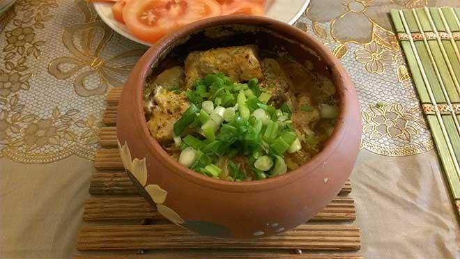 картошка в горшочках с грибами и мясом в духовке рецепт с фото