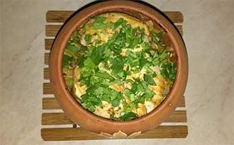 гаршочек с картошкой мясом и грибами в духовке